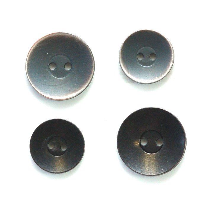 Steel Sunken Center Metal Button