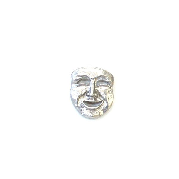 Theater Comedy Mask Metal Button