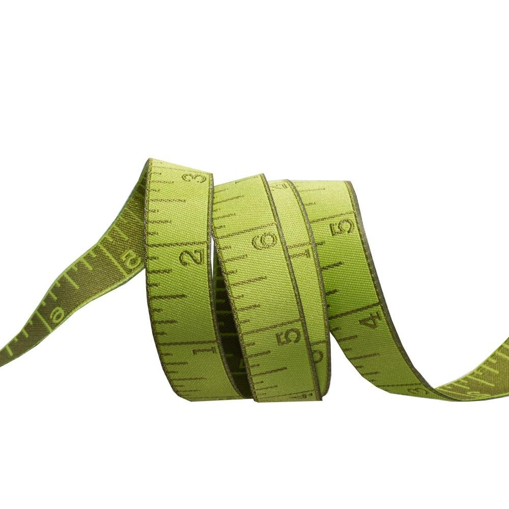 Measure Twice in  Morning Green - Renaissance Ribbons
