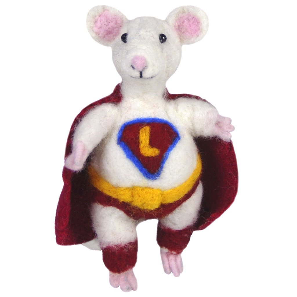 Mouse Super- Alpaca felted sculpture