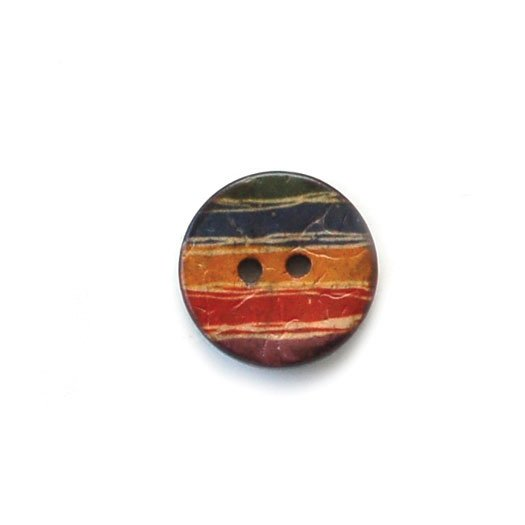 Multi Band Rainbow Coconut Buttons
