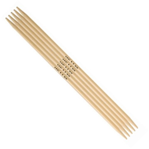 addi Bamboo Double Point Knitting Needles - 6 or 8 US 0 - 10.75