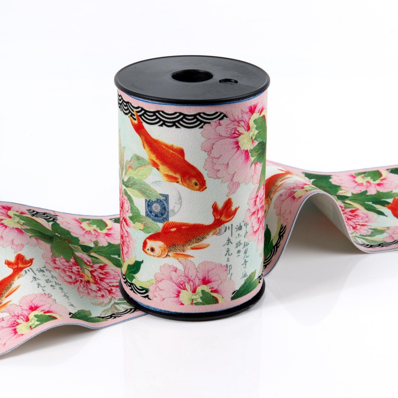 Koi Fish Velour Border - Renaissance Ribbons