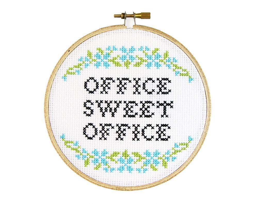Office Sweet Office Cross Stitch Kit