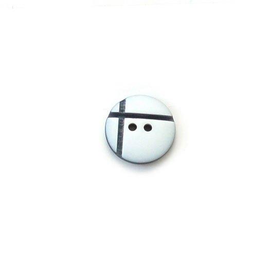 Offset Cross Plastic Buttons