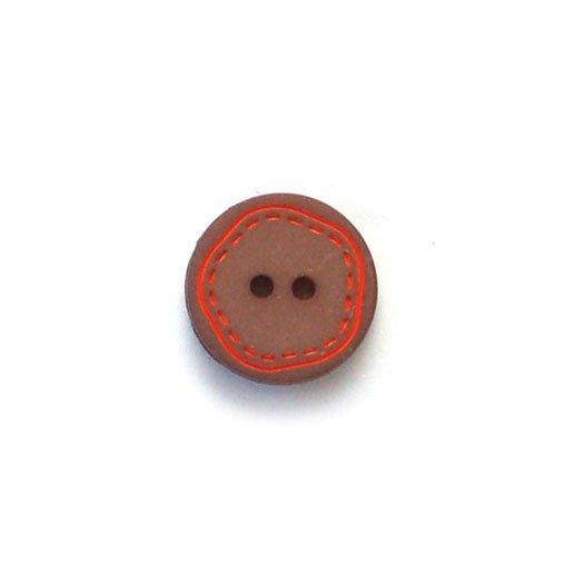 Orange Stitching Plastic Buttons