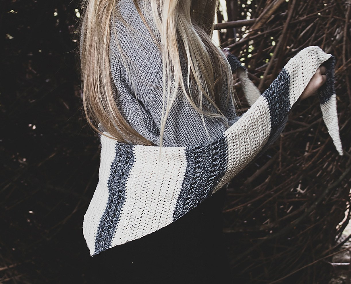 Orca Island Shawl - crochet .pdf pattern