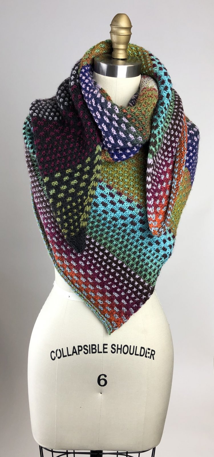 Night shift Shawl Kit designed by Andrea Mowry