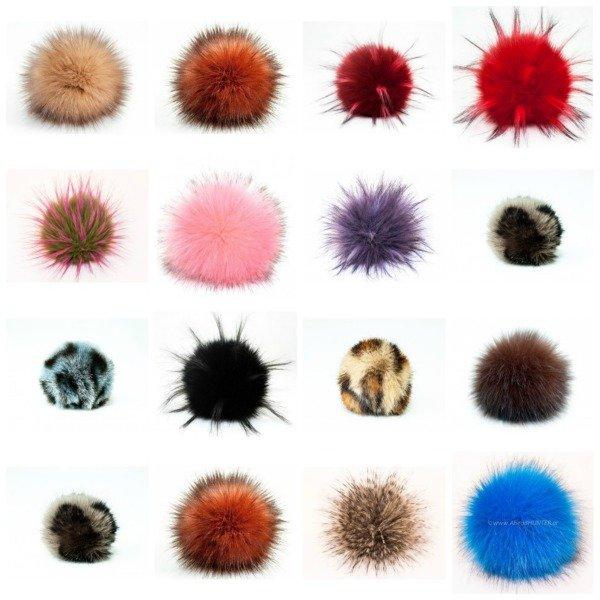 LOVaFUR Handmade Faux Fur PomPoms