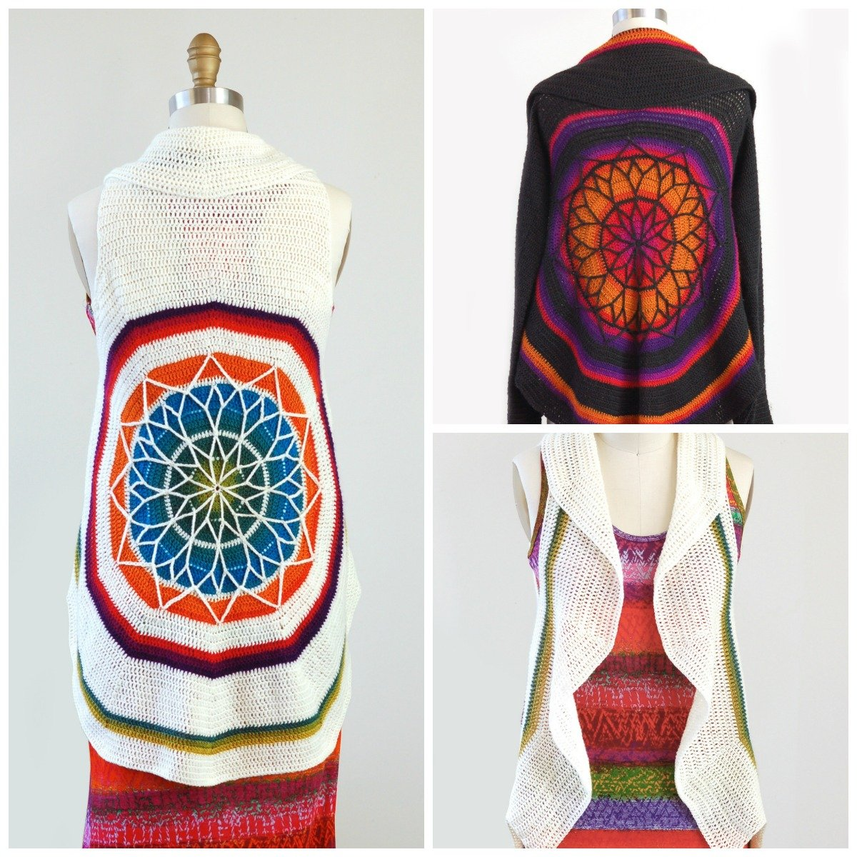 Stained Glass Mandala Vest - PDF Download