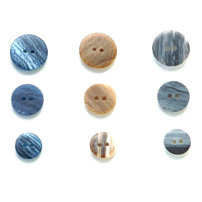 Brushed Flat Plastic Button