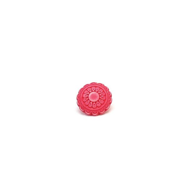Brushed Flower Plastic Button