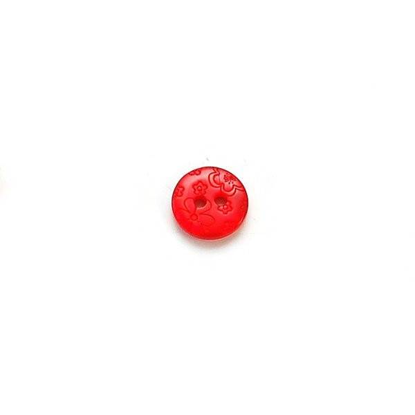 Engraved Flowers Plastic Buttons
