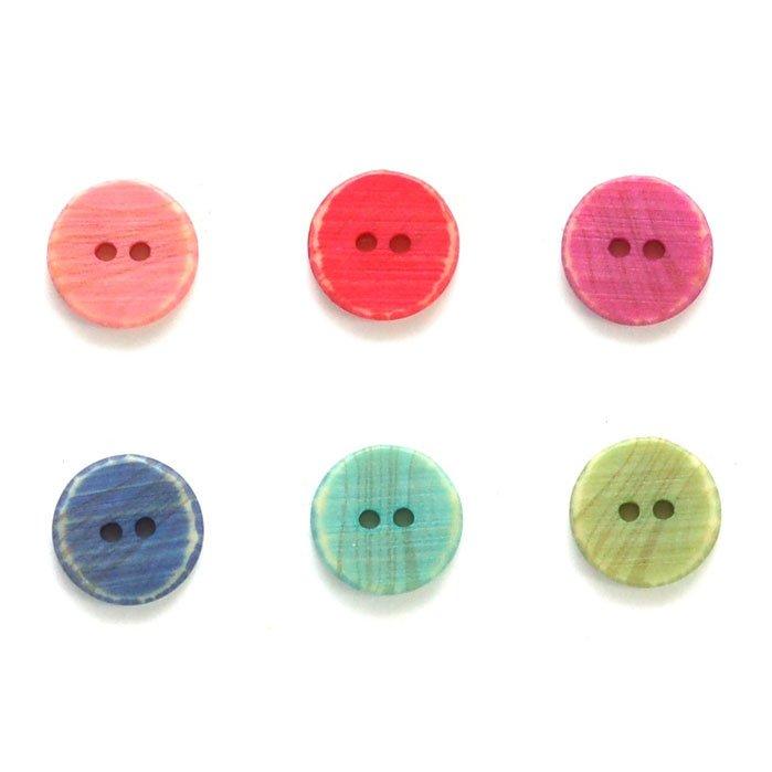 Faux Wood Grain Plastic Button