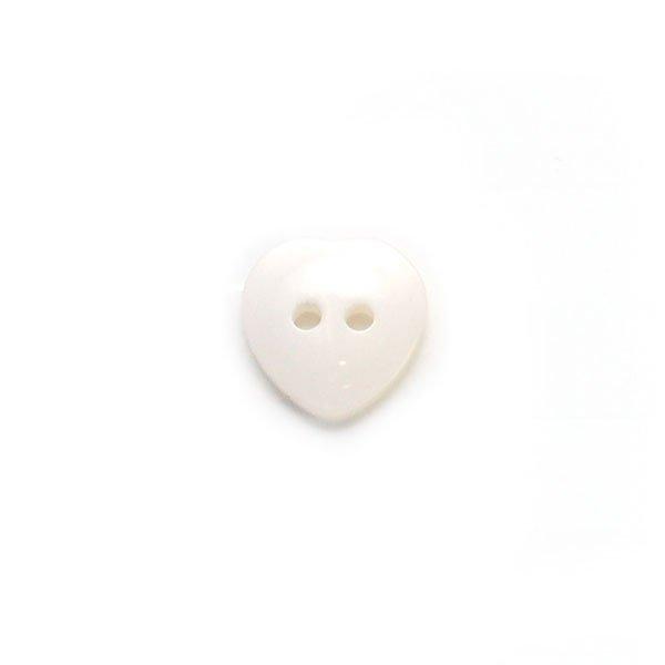 Iridescent Heart Plastic Buttons