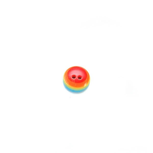 Multi Rainbow Circles Plastic Button