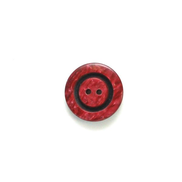 Center Black Ring Plastic Buttons