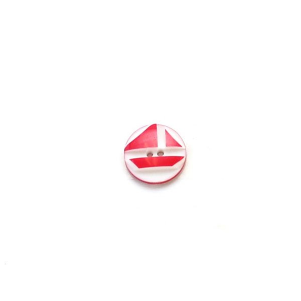 Etched Sailboat Plastic Button