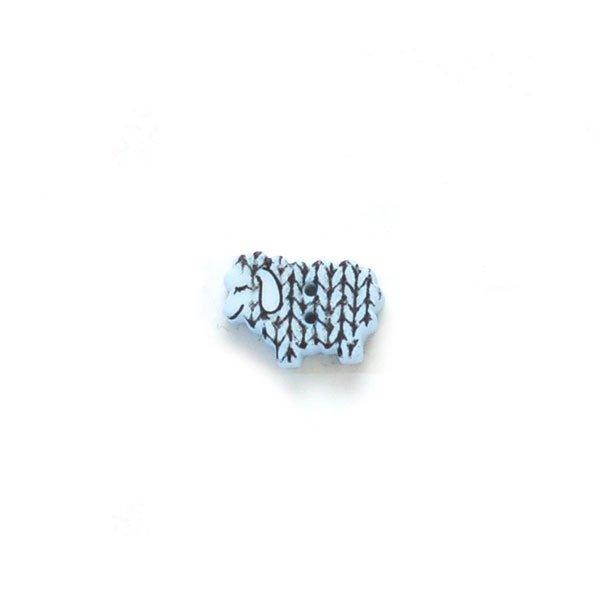 Knit Stitches Sheep Plastic Button