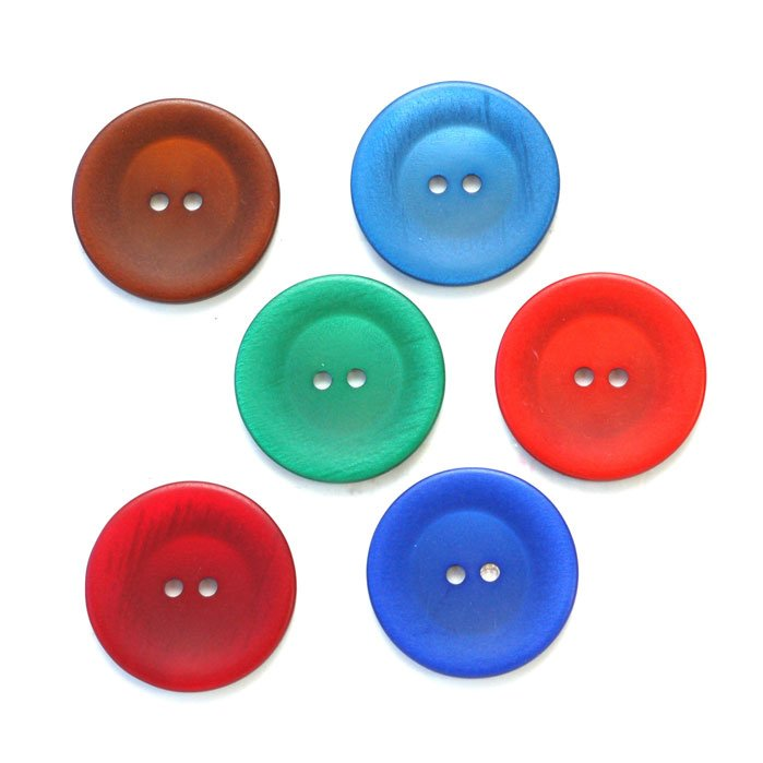 Slightly Concave Round Plastic Buttons