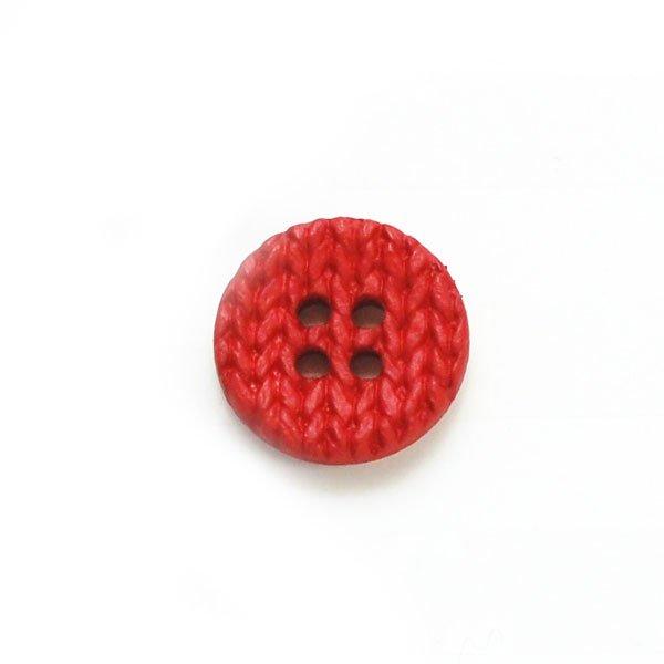 Stockinette Stitch Knitting Plastic Button