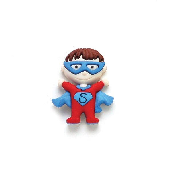 Masked Super Hero Plastic Button