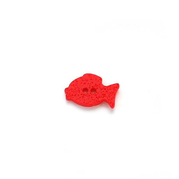 Textured Fish Plastic Button