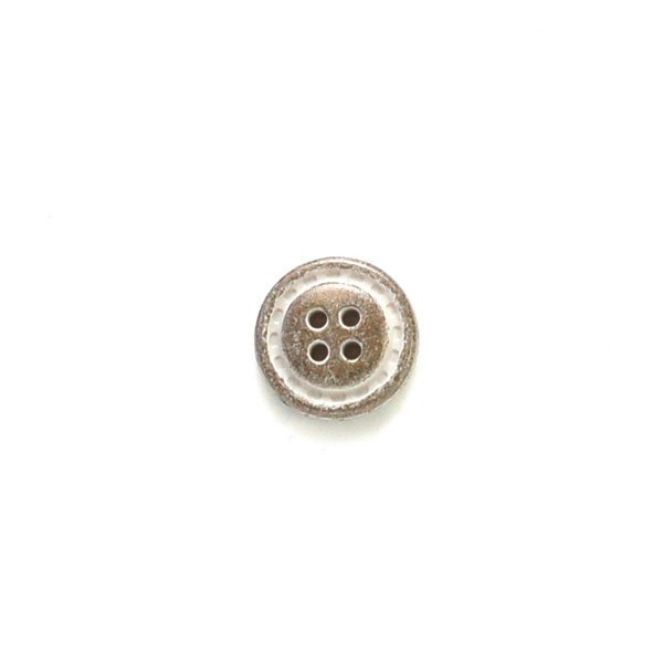Rustic Metal Look Plastic Button