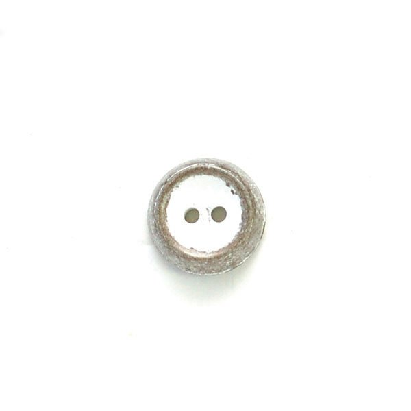 Rustic Metal Look Thick and Concave Plastic Button
