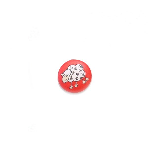 White Sheep Plastic Button