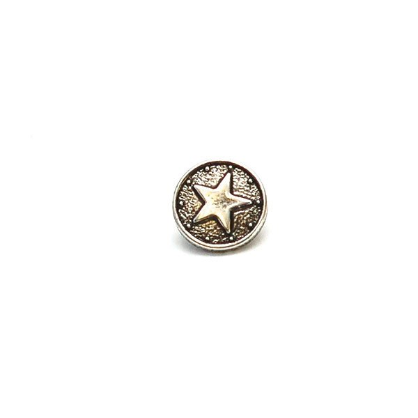 Look of Metal Star Plastic Button