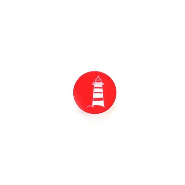 White Lighthouse Plastic Button