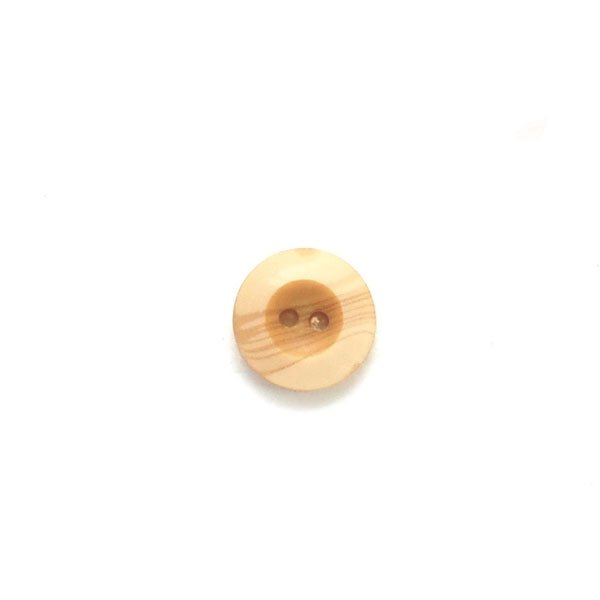 Wood Grain Wide Rim Concave Plastic Button