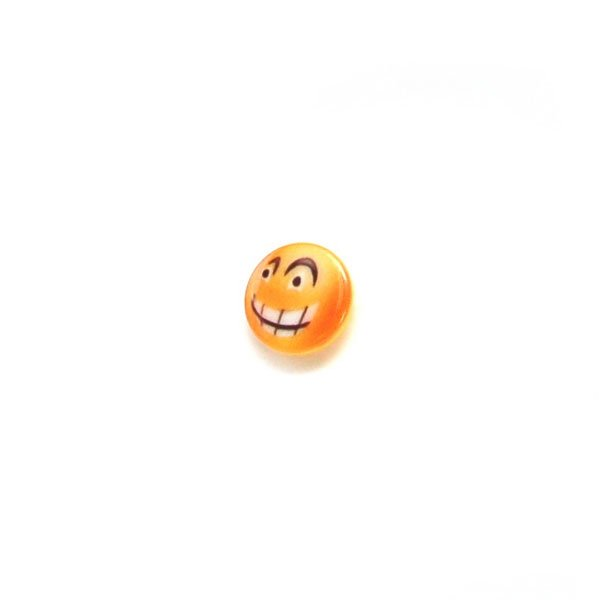Yellow Emoji Plastic Buttons