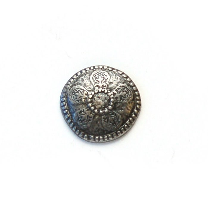 Pressed Flower Metal Button