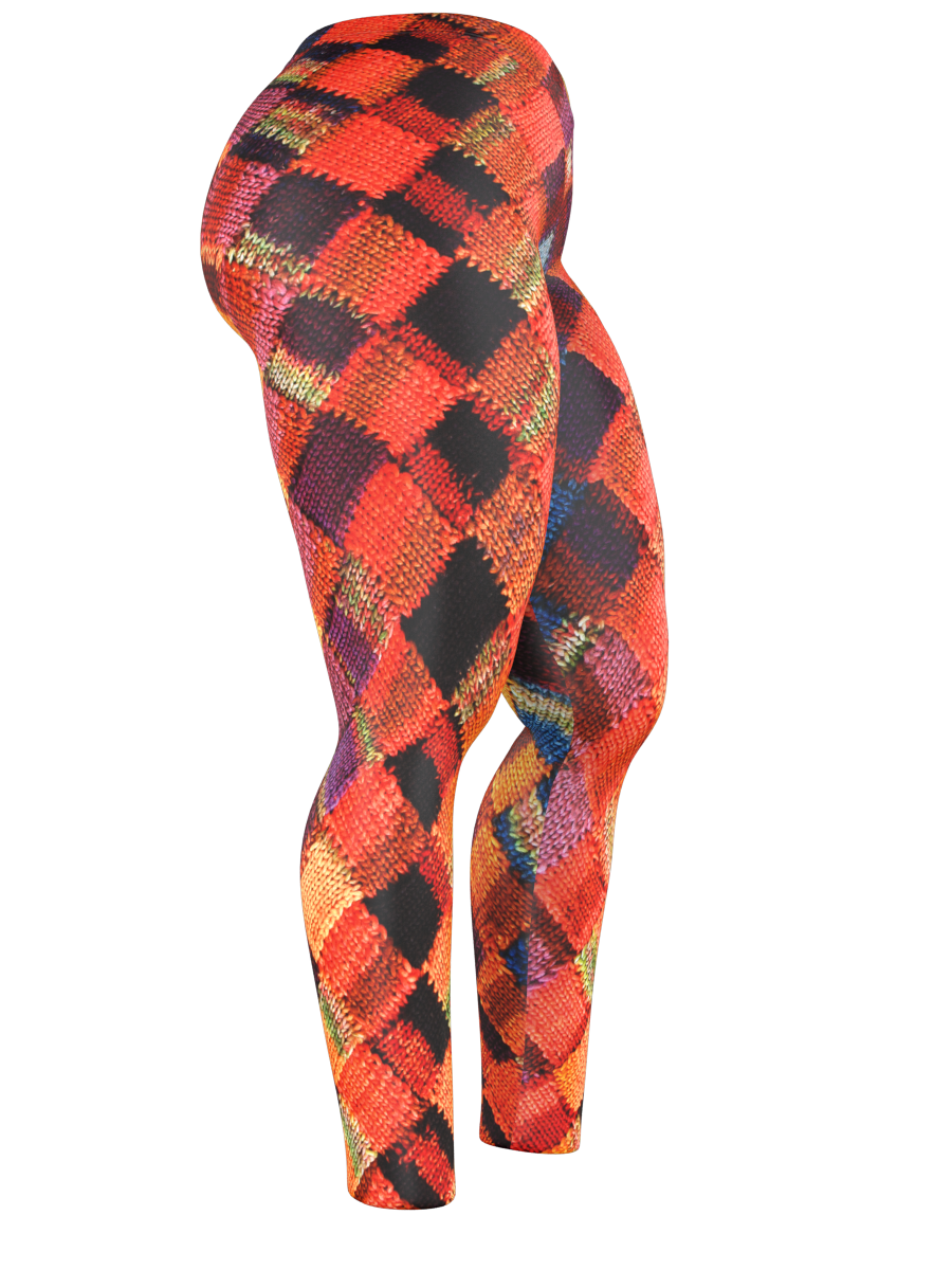Leggings - Purely Entrelac - Orange