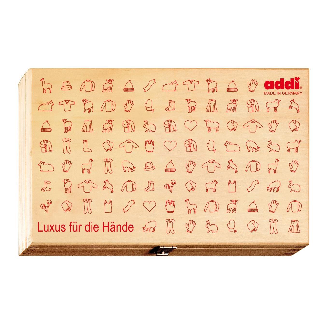 addi Wooden Circular Needle Storage Box