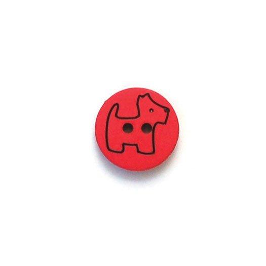 Scottie Dog Plastic Buttons