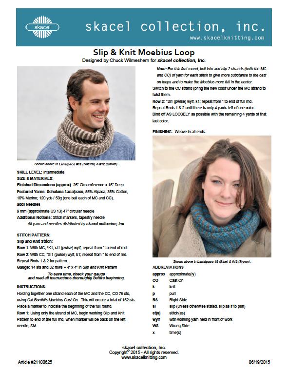 Slip & Knit Moebius Loop Pattern 21100625