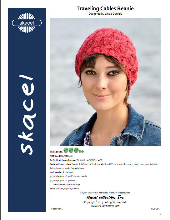 Traveling Cables Beanie by Linda Daniels - PDF Download