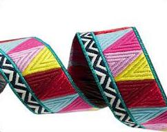 Yellow/Pink Mosaic - Renaissance Ribbons
