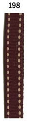 Maroon Ribbon with Off-White Running Stitch