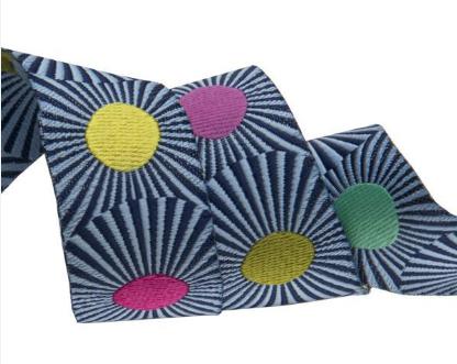 Stripes & Dots - Jacquard Ribbon by Tula Pink