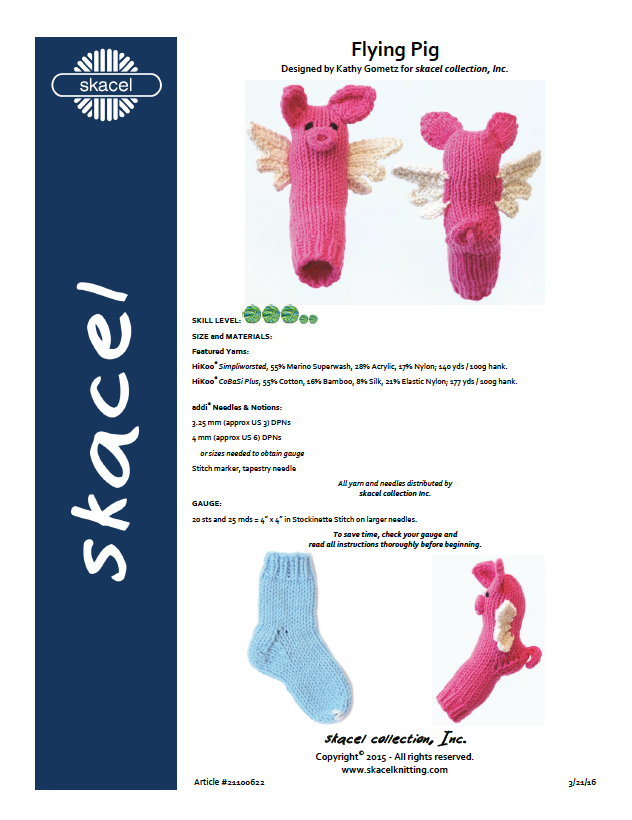 Flying Pig pattern by Kathy Gometz - pdf download