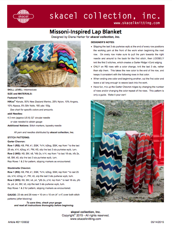 Missoni Inspired Lap Blanket - PDF pattern download