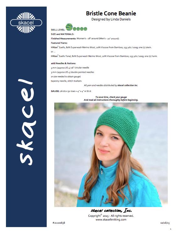 Bristle Cone Beanie free pattern PDF