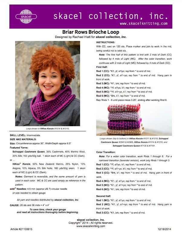 Briar Rows Brioche Loop Cowl - PDF Download
