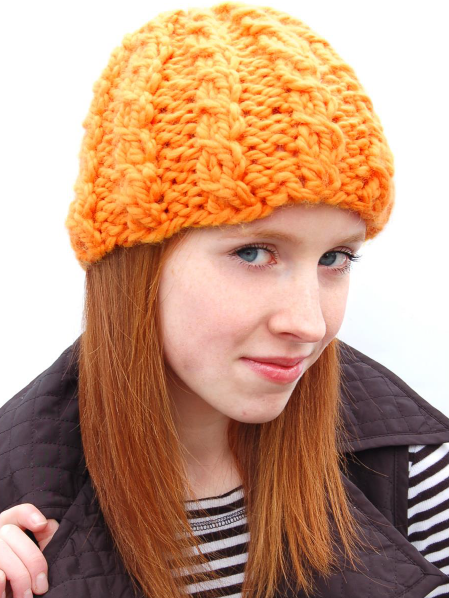 Two Stitch Cable Beanie Pattern- Free PDF Download