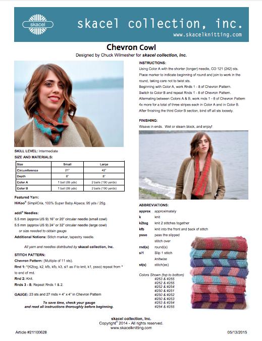 Chevron Cowl pattern - PDF Download
