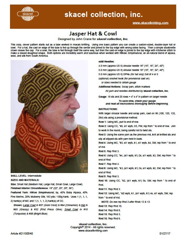 Jasper Hat & Cowl - free pattern download